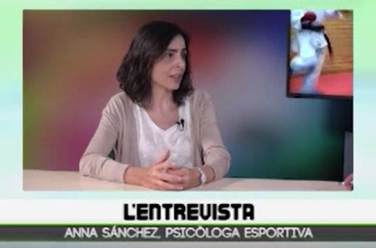 Imagen entrevista a Ana Sánchez en LaPobla Televisión